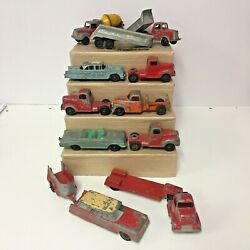 Vintage 50's And 60's Hubley Tootsietoy Chicago 24 Lot Of 13 Mixed Car/trucks