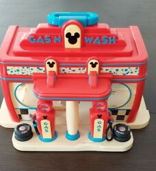 Disney [gas N Wash] Car Station Play Set Mickey Mouse Clubhouse Station Toy.