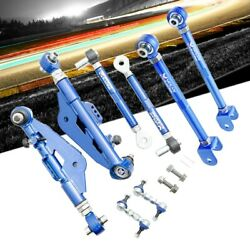 Megan Blue Front Lower And Rear Lower Control Arm For 95-98 240sx S14 S15/q45 Y33
