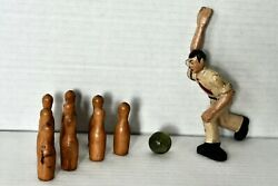 Vintage Cast Iron Bowler Figure From Antique Bowling Game