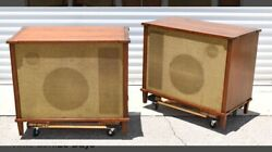 Jbl Speakers 130a Woofer 175 And N1200 16 Ohms Horns In Acousti-craft Cabinets