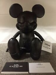 Coach X Disney Mickey Mouse Doll S Leather Plush
