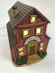 Geo Z. Lefton China Hand Painted 06749 Village School 1986 Or 1988 Light Works
