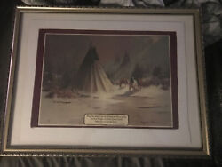Cherokee Indian Blessing Painting Framed In Beautiful Frame With Glass 26x20