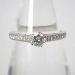 [used] Chaumet / Pt950 Diamond Frison Solier Ring Us Size5.5 [g502-10]