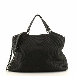 Spiral Sea Hit Tote Quilted Iridescent Calfskin Large