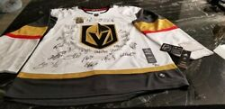 Vegas Golden Knights 2018 Western Conference Champions Autographed White Adidas
