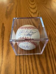 Kirby Puckett 1991 World Series Signed Dated Baseball In Clear Display Case