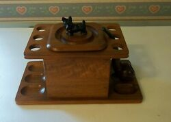 Vintage Smoking Tobacco Pipe Stand And Humidor, Estate Pipe And Scottie Dog