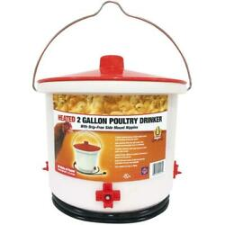 2 Gallon Heated Electric Poultry Waterer