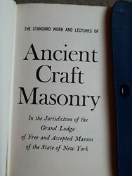The Standard Work And Lectures Of Ancient Craft Masonry 1964 Freemason Book