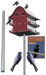 Sandk 16 Rooms Purple Martin House Package Including Decoys For Attracting Martins