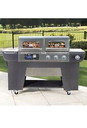 Cuisinart Twin Oaks Dual Pellet And Propane Gas Bbq Barbecue Grill Barbeque
