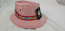 Brand new with tags Goorin Red White Striped Bucket Fishing Golf Hat Mens size M $24.00
