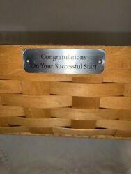 New Longaberger 2005 Large Paper Tray Basket Congratulation Consultant Exclusive
