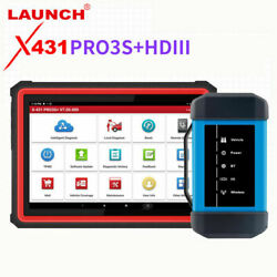 New Launch X431 Pro3s+ Hdiii 12v Car And 24v Truck Diagnostic Tool