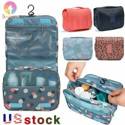 Women Portable Travel Cosmetic Bag Makeup Pouch Toiletry Hanging Organizer Bag $9.19