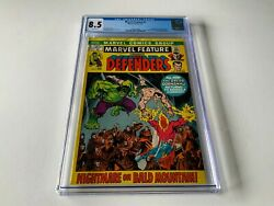 Marvel Feature 2 Cgc 8.5 White Pages 2nd Defenders Sub-mariner Hulk Marvel Comic