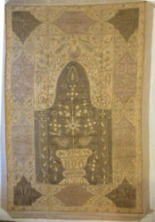 Antique Ottoman Islamic Religious Mihrab Mosque Tapestry - Approx. 1200 Hegira