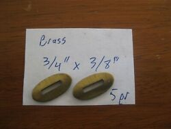 Muzzleloader Slotted Brass Escutcheon Plates, Pair, Small, 3/4
