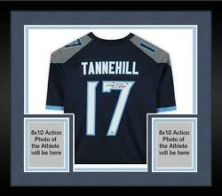 Framed Ryan Tannehill Tennessee Titans Autographed Blue Nike Game Jersey