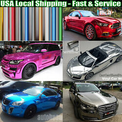 Glossy Mirror Chrome Foil Vinyl Cover For Whole Car Wrapping Film Graphics Sheet