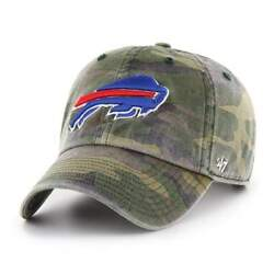 Buffalo Bills And03947 Camo Clean Up Adjustable On Field Cotton Hat Cap
