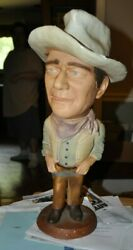 John Wayne Esco Statue From The 1970s Really Great Condition Few Chips