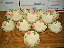12 Franciscan Earthenware Interpace Desert Rose 6x1 3/4 Coupe Cereal Bowl Usa