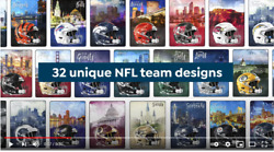 Nfl Football Official U-pick Cityscape Blanket Throw 60 X 80 677977 - New