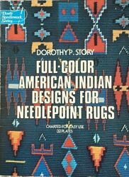 Full Color American Indian Designs For Needlepoint Rugs Needlepoint Patterns-32