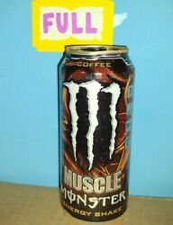 Rare Monster Energy 2013 Muscle Coffee Sku 0213 Dents Full, Sealed 15oz Can