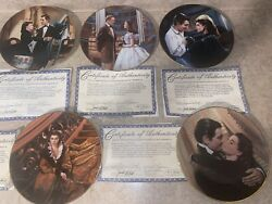 Gone With The Wind Collector Plates 1991 Set Of 5 Bradford Exchange