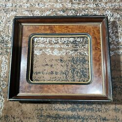 Antique Deep Wall Wooden Shadowbox Picture Frame Fits 10 X 8 19th Century