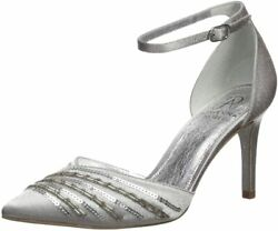 Adrianna Papell Womenand039s Helma Pump 7 Pewter Satin