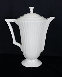 Rare Vintage Discontinued Lenox China Temple Ivory Coffee Pot 9 3/8 Tall Mint