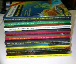 The Magazine Of Fantasy And Science Fiction Fandsf 1977 Lot Of 9 New Condition