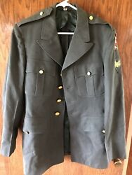 1950s Us Army Green Dress Jacket / Pants 70th Division Trailblazers Color Patch