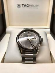 Auth Tag Heuer Watch Carrera Cal.5 Automatic Case Date Waterresistant 100m F/s