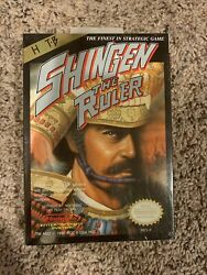 Shingen The Ruler Nes Complete In Box Rare Sealed Vintage Collectors Brand New