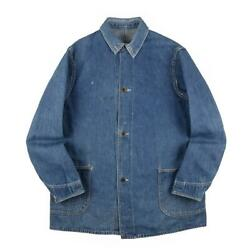 40s Vintage Wwii Denim Coverall War 2 Poke Laurel Button Menand039s Outerwear