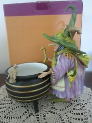 Dept 56 Krinkles Patience Brewster Witch And Cauldron Candy Dish - New Old Stock