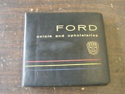 Oem Ford 1960 Dealer's Color + Trim Book Galaxie Thunderbird Falcon Starliner
