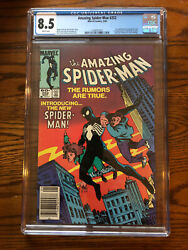 Amazing Spiderman 252 First Black Suit Spiderman CGC 8.5 White Pages Newsstand