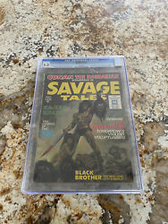 Savage Tales 1 5/71 Conan The Barbarian 6.0 Cgc Graded White Pages