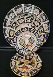 Royal Crown Derby 2451 Traditional Imari 5 Piece Place Setting Excellent