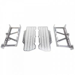 7602 Racing Radiator Braces With Guards Brushed Aluminum Ktm-rb04-a