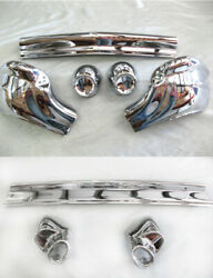 In-stock 1957 Chevy Chevrolet Pair Front + Rear Bumpers 10pcs New Triple-plated