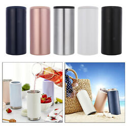 Travel Double Wall Stainless Steel Drink Cooler Beer Coffee Cola Cooler Can