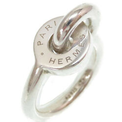 Hermes Silver Ring 925 Size 50 Accessory 0174 Women 's